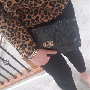 LANVIN ㅣBlack Quilted Leather Happy Clutch